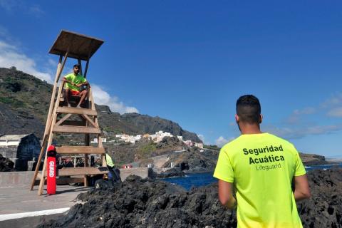 Servicio de socorrismo en las zonas de baño de Garachico