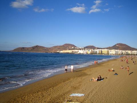 Playa de Las Canteras. Las Palmas de Gran Canaria