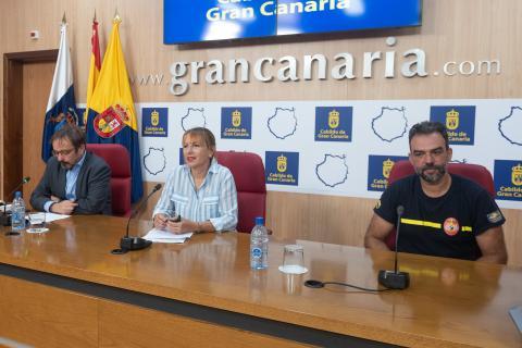 Inés Jiménez,, Raúl García Brink, y Federico Grillo. Gran Canaria