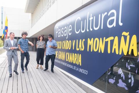 Mural de Risco Caído y las Montañas Sagradas de Gran Canaria por su primer año como Patrimonio Mundial