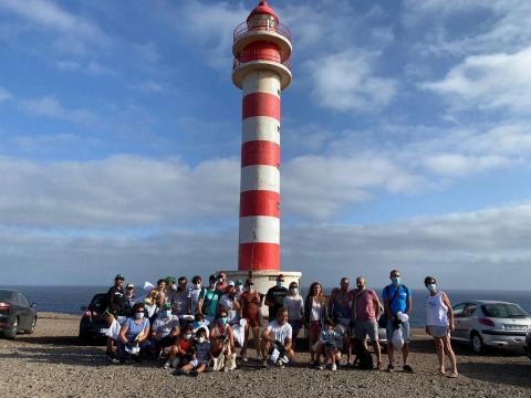 Jornada de Voluntariado Ambiental en el Faro de Sardina de Gáldar. Gran Canaria