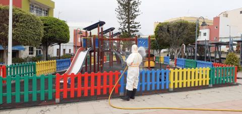 Limpieza parques infantiles. Guía