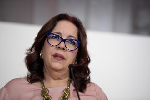 Manuela de Armas. Consejera de Educación. Canarias
