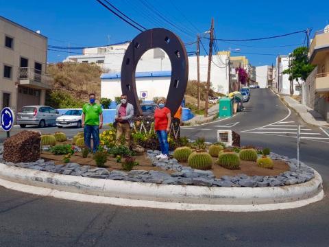 Escultura de La Herradura, Telde. Gran Canaria