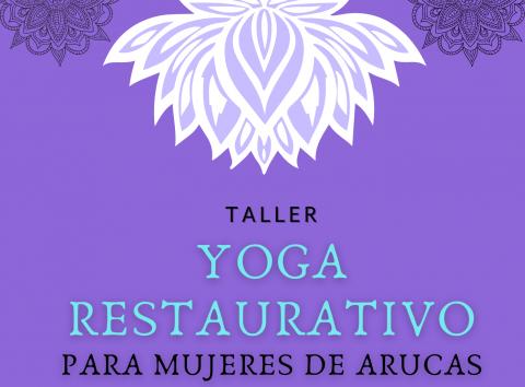 Cartel Taller Yoga restaurativo, Arucas