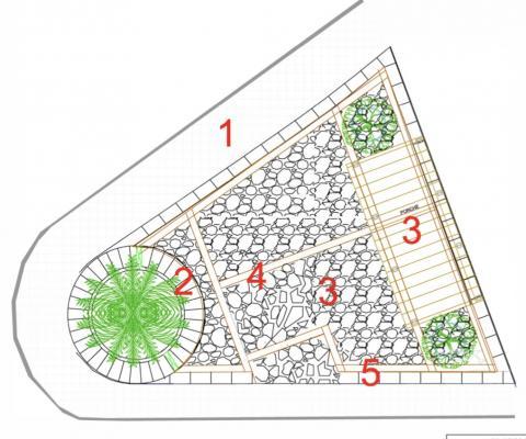 Plano Plaza de Chimiche. Granadilla de Abona. Tenerife