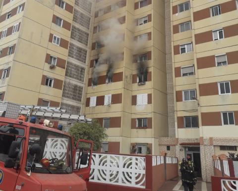 Vivienda incendiada en Las Palmas de Gran Canaria