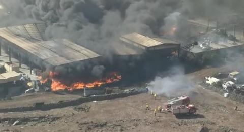 Incendio en el complejo ambiental de El Majano. El Hierro