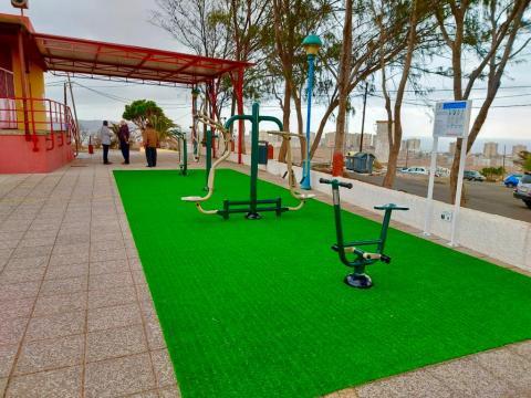 Hoya Aguedita cuenta con un parque biosaludable, Telde. Gran Canaria