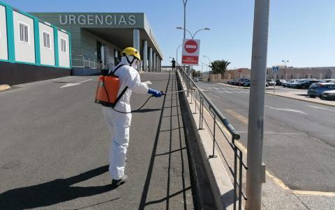 Limpieza y desinfección para prevenir la Covid-19. Lanzarote
