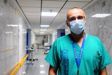 Marcos Figueira, neumólogo Hospital La Candelaria