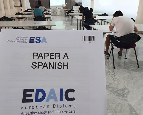 Exámenes para obtener Diploma Europeo en Anestesiología y Cuidados Intensivos