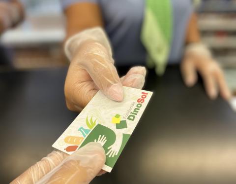Tarjeta monedero de la Fundación DinoSol
