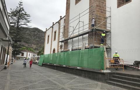 Obras de la Basílica del Pino en Teror. Gran Canaria