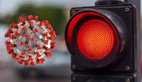Semáforo rojo Covid-19