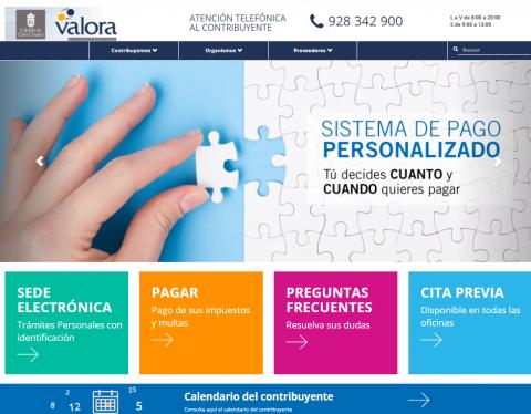 Oficina virtual de Valora del Cabildo de Grana Canaria