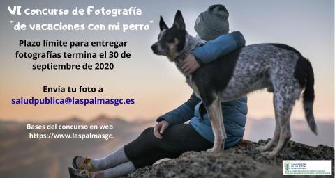 """Cartel concurso fotográfico """"De vacaciones con mi perro"""" Las Palmas de Gran Canaria"""