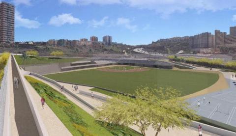 Campo de beisbol en Las Palmas