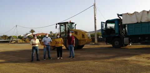 Obras de acondicionamiento del cauce del barranco de Gran Tarajal, Tuineje. Fuerteventura