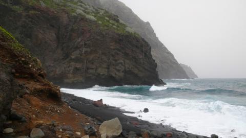 Playa de Tamadite, Parque Rural de Anaga. Tenerife
