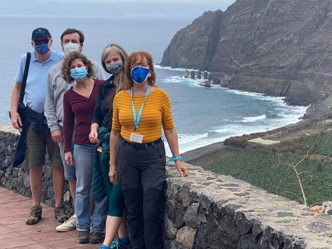 Visita de periodistas especializados a La Gomera