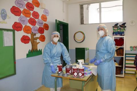 Pruebas PCR en los colegios de Las Palmas de Gran Canaria