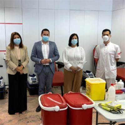 Telde colabora con el ICHH en la apertura de un nuevo centro de donación de sangre