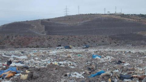 Vertedero del Salto del Negro. Las Palmas de Gran Canaria