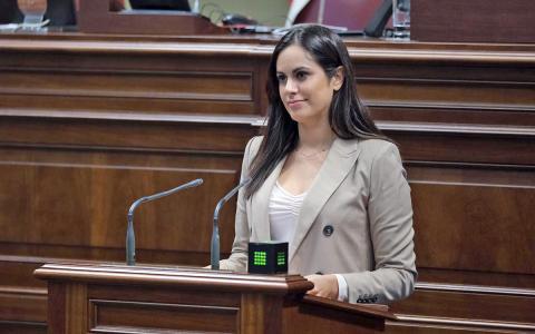 Vidina Espino, portavoz Cs en el Parlamento de Canarias