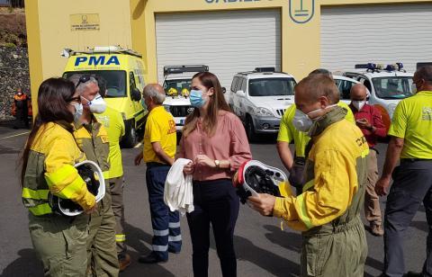 Actuaciones en el incendio forestal de Garafía. La Palma
