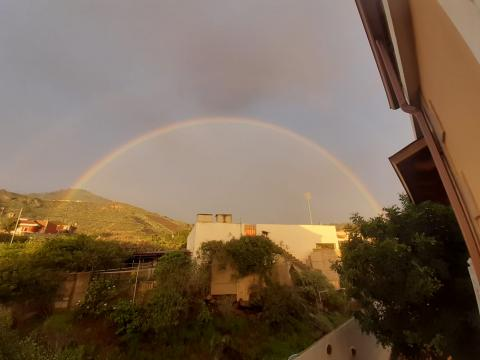 Arco Iris con Bandama al fondo/ CanariasNoticias.es