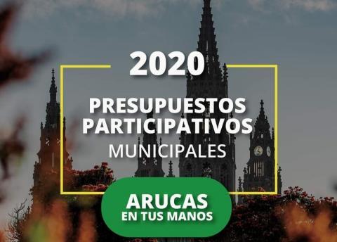Cartel de Presupuestos participativos del Ayuntamiento de Arucas
