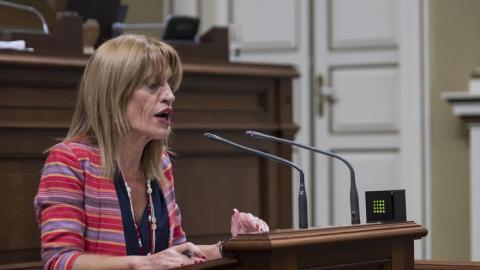 Esther González,  portavoz parlamentaria de Nueva Canarias (NC) en materia económica