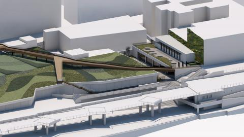 Infografía de la nueva biblioteca Josefina de La Torre. Las Palmas de Gran Canaria