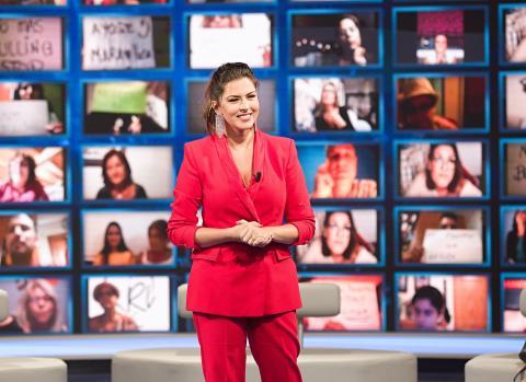 "Eloísa González presentadora del programa ""Gente Maravillosa"" de RTVC"