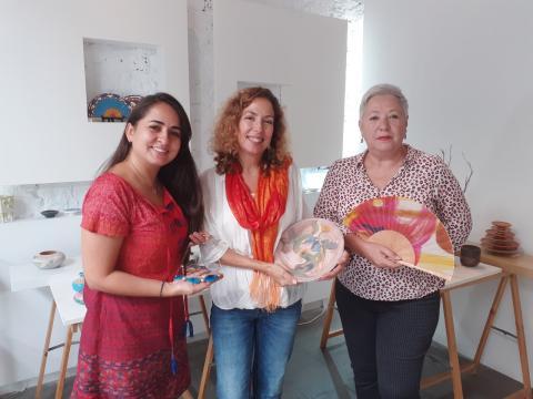 Claudia Díaz, Carmen Morán, Paola Duque