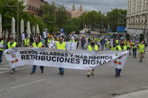 I Manifestación de Militares.  ATME y UMT