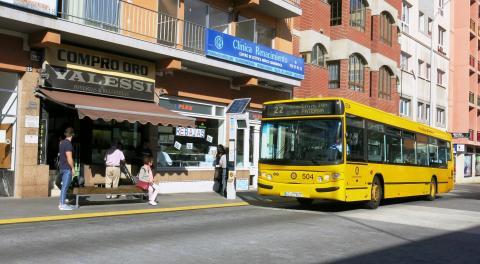 Línea 22 de Guaguas Municipales. Las Palmas de Gran Canaria