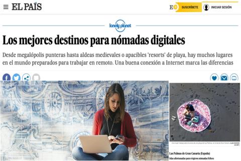 Lonely Planet incluye a Las Palmas de Gran Canaria entre los mejores destinos del mundo para los nómadas digitales