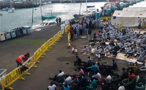 Inmigrantes. Muelle de Arguineguín/ CanariasNoticias.es