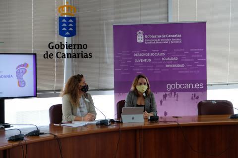 Noemí Santana y Genna Martínez presentan la ley de la Renta de Ciudadanía Canarias
