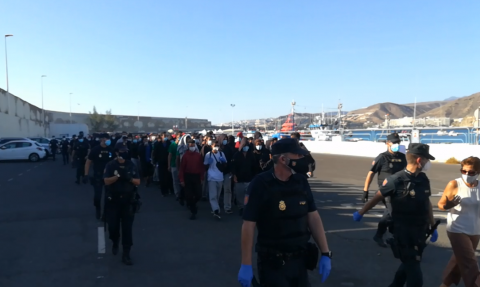 Dejan en libertad sin control a 264 magrebíes en Arguineguín / CanariasNoticias.es