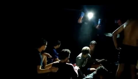 Rescate de inmigrantes en Órzola