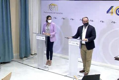 Vidina Espino y Ricardo Fernández de la Puente
