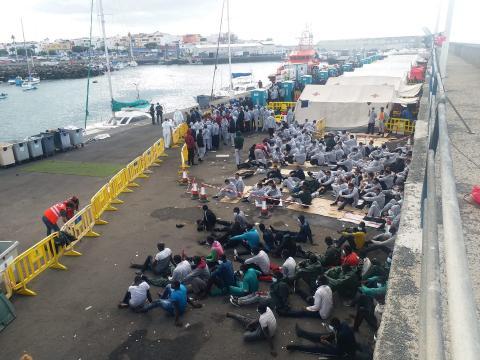 Inmigración. Muelle de Arguineguín/CanariasNoticias.es