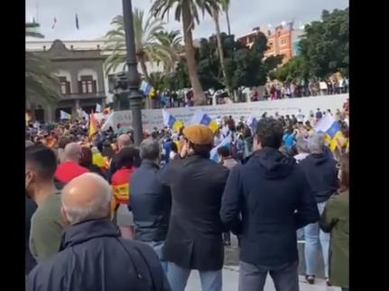 Manifestación en la Plaza de la Feria. Las Palmas de Gran Canaria / CanariasNoticias.es