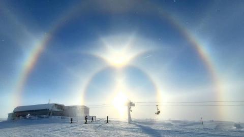 Halo solar en Suecia