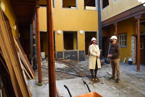 Obras en la Casa Ancheta de La Laguna / CanariasNoticias.es
