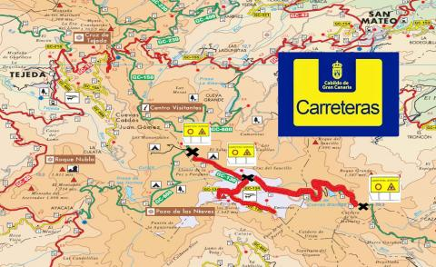 Carreteras cortadas en Gran Canaria