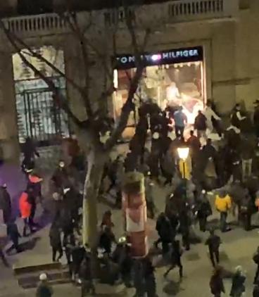 Vandalismo en las calles de Barcelona/ canariasnoticias